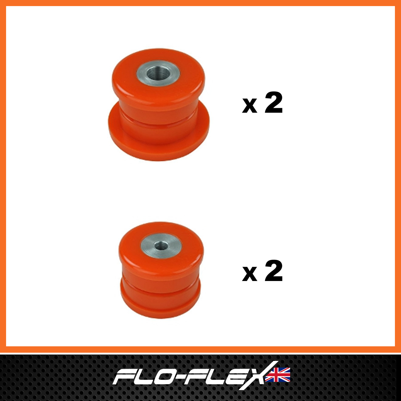 Land Rover Discovery 1 Shock Absorber Bushes in Poly Polyurethane Flo-Flex